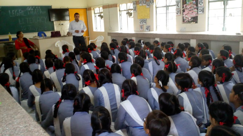 DLSA, Rohini Courts organized a Legal Literacy Programme  at Government Girls Senior Secondary School, Libaspur,Delhi.
