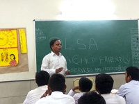 DLSA, Rohini Courts organized a Legal Literacy Programme  at Government Boys senior secondary school, Azadpur, Delhi.