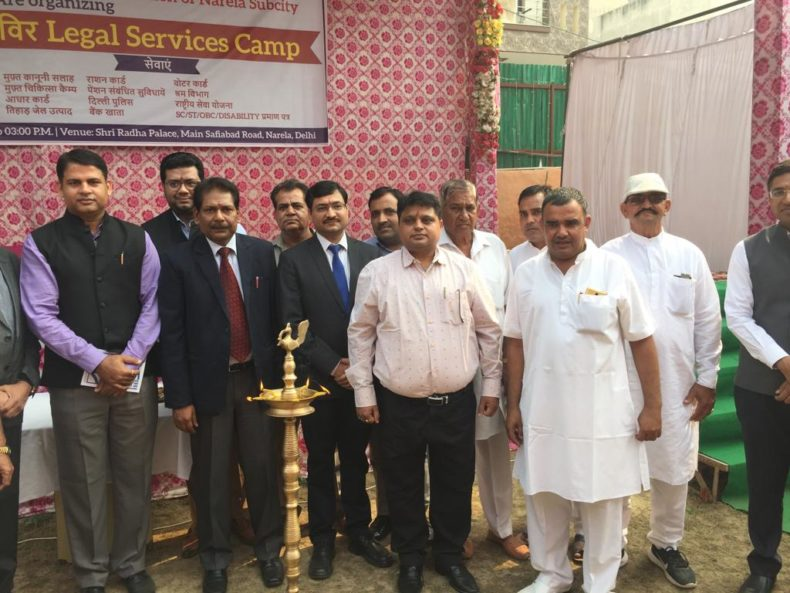 Delhi State legal Services Authority North organized a Mega Legal Services Camp in at Radha palace Sanjay colony, Delhi
