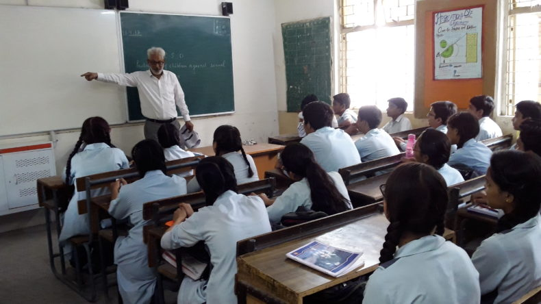 New Delhi District Legal Services Authority Organized A Literacy Programme On 180417 The Topic POCSO Act At Navyug Secondary School