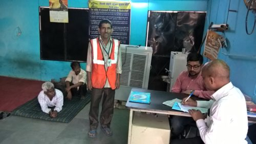 Inspection of Night Shelter Home at Vasant Vihar organised by New Delhi DLSA on 22.05.2017 from 5:00p.m. to 5.30pm. Sh. Ram Awadh Yadav, LAC interacted with inmates.