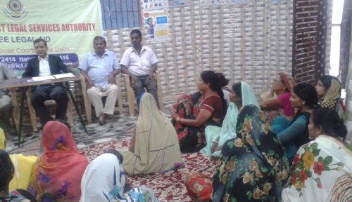 """A meeting of Resident Welfare Association was conducted in todapur and residents were made aware of their LegalRights on the topic of """"Labour Law & POCSO"""" and their question was taken and the Resource Person satisfy their queries on various subject."""
