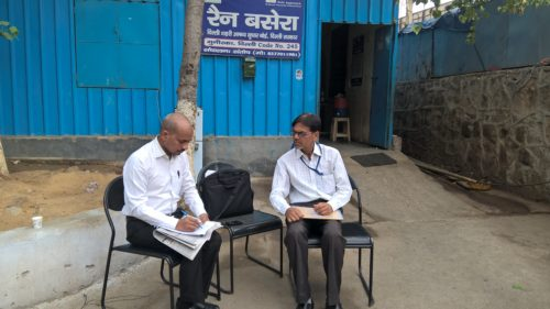 Inspection of Night Shelter Home at Munirka organised by New Delhi DLSA on 22.05.2017. Sh. Ram Awadh Yadav, LAC interacted with inmates.