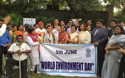 On the eve of World Environment Day at Patiala House Courts, New Delhi on 05.06.2017.