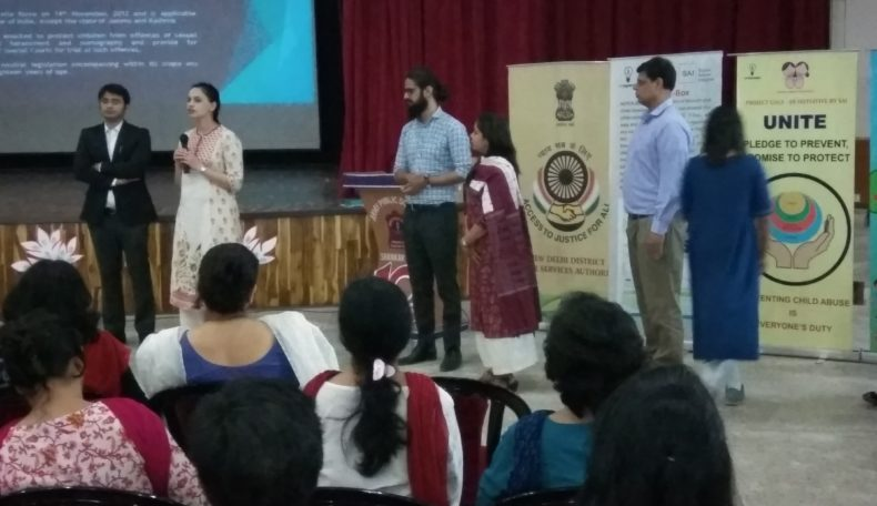 NDDLSA in Co-ordination with SAI (Social Axiom Insignia) organised sensitization programme on the provision of POCSO Act and Prevention of Sexual Abuse of Children for the students, teachers and counsellors on 19th May, 2017 at Army Public School, Shankar Vihar, Delhi Cantonment at New Delhi.