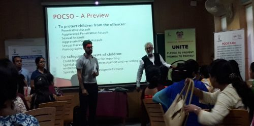 New Delhi District Legal Services Authority Organised a Workshop on POCSO Act by Advocate Ravi Qazi, LAC at Army Welfare Education Society (AWES), Shankar Vihar on 10.08.2017.