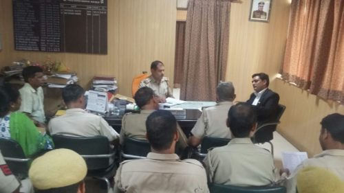 "An Awareness programme on ""Protection of Children from Sexual Offences Act, 2012"" at Inderpuri Police Station, New Delhi on 30.08.2017 by Vishnu Tiwari, LAC."