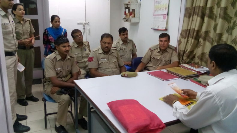 """New Delhi DLSA Organized Awareness Programme on sensitization for the provision of """"POCSO Act for Police Officials on 02.09.2017 at Police Station Naraina by Legal Aid Counsels Sh. Santosh Kr. Pandey as a Resource Person."""