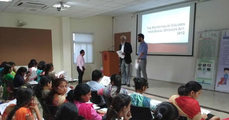"""New Delhi District Legal Services Authority Organised a Workshop on """"POCSO"""" Act for teachers and counselors by Advocate Ravi Qazi, LAC at Army Welfare Education Society (AWES), Shankar Vihar on 15.09.2017."""