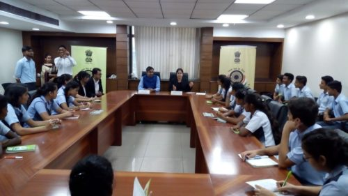 NDDLSA Organised a joint Awareness Programme at Saket Courts Complex for the school students from Chinmaya Vidyalaya, Vasant Vihar to observe the court proceedings with South-East District Legal Aid at Saket Court.