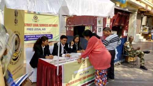 ON 27.09.2017, A Legal Awareness Programme was conducted NDDLSA at Birla Mandir to Spread Awareness among the people visiting temple during the Festival Season.
