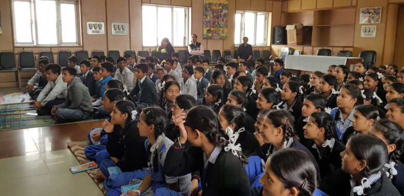 On Children's Day an Awareness Programme was conducted by New Delhi District Legal Services Authority at S.K.V Public along with GSSS Public School Pandara Road.