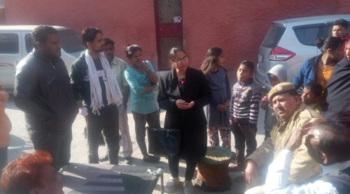 "A Legal Awareness programme was organised by NDDLSA at JJ Colony, PS- Inderpuri and in slum on Kali Badi Marg, PS-Mandir Marg, on the topic ""Prohibition of Child Marriage Act"" & ""Senior citizen Schemes"" on 16.1.18 & 17.1.18 by LAC Ms. Vandana Gupta, LAC as a Resource person ."