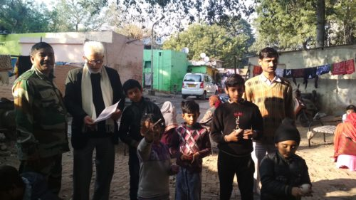 Legal Awareness Programme on Drug Abuse at Tilak Marg Slum area i.e opposite Patiala House Court behind bus stop. Sh. Ravi Qazi LAC as a Resource Person interacted with the slum dwellers on the subject on 29.01.2018.