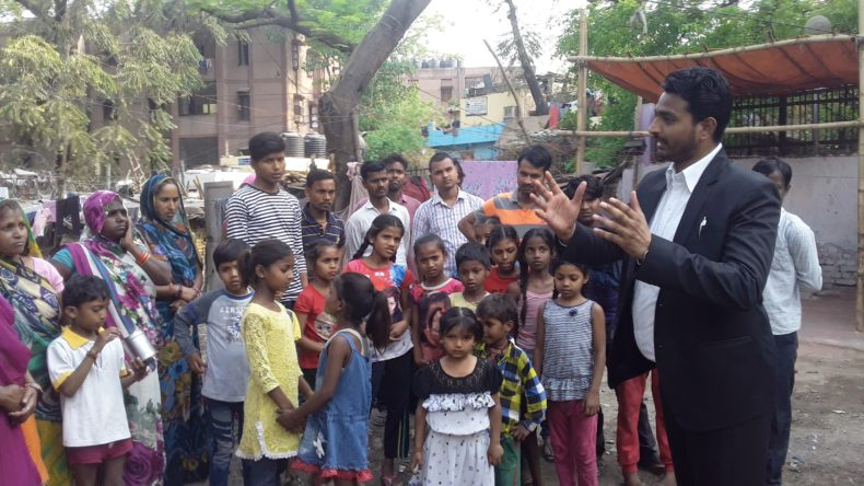 Legal Awareness Programme on Waste Management at Mandir Marg Slum area P.S. Mandir Marg on 04.04.2018. Sh. Vipin Rathi LAC/NDDLSA as a Resource Person.