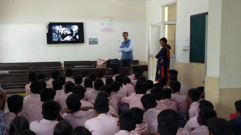 Legal Awareness Programme conducted by the secretary New Delhi District at N.P co-ed Senior Secondary School, Tilak Marg on the topic Sexual Violence on 01.05.2018.