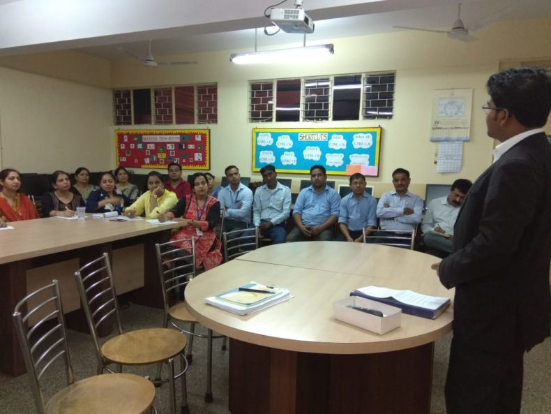 "New Delhi District Legal Services Authority Organised a Workshop on ""POCSO"" Act for teachers and counselors by Advocate Satya Ranjan Swain, LAC at Army Welfare Education Society (AWES), Shankar Vihar on 17.05.2018."