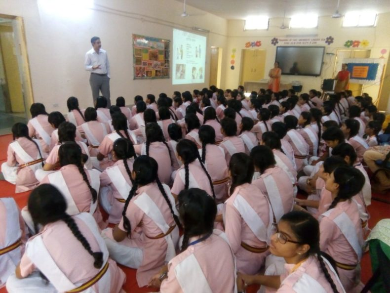 Legal Awareness Programme conducted by the Secretary New Delhi District at N.P Girls Senior Secondary, Gole Market, New Delhi on the topic POCSO Act on 24.05.2018.