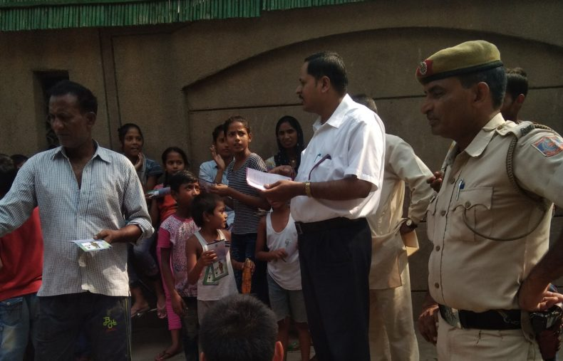 A Legal Awareness Programme was conducted in slum area of Sanjay Camp, PS Chanakyapuri on 28.05.2018. Sh Santosh Kr. Pandey was the Resource Person from NDDLSA.