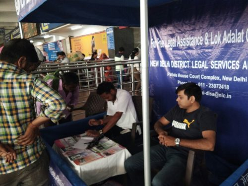 New Delhi in Co-ordination with DSLSA has set up aHelp Desk at New Delhi Railway Station.