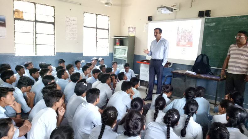 Legal Awareness Programme conducted by the Secretary New Delhi District at Navyug Sr. Sec. School Vinay Marg New Delhi, on the topic of Sexual Violence Act on 06.07.2018.