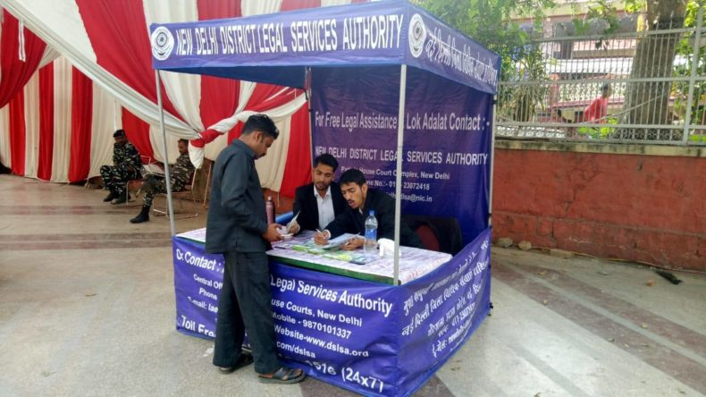 Help Desk on Free Legal Advice organised by New Delhi District Legal Services Authority from 15th to 18th Oct 2018 at Kali Bari Mandir, New Delhi.