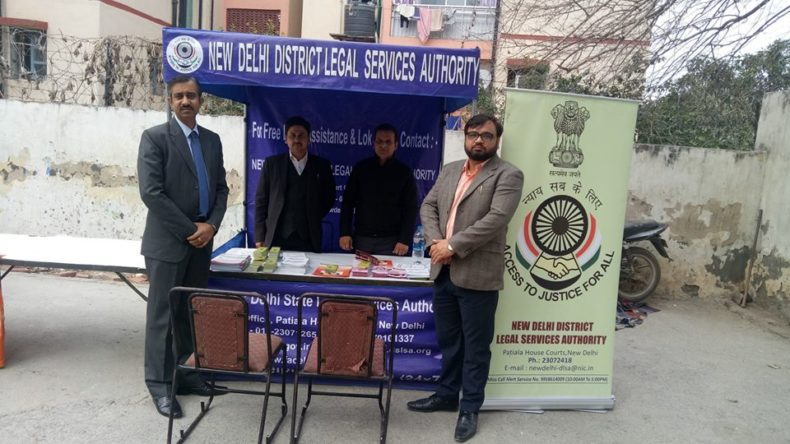 A Legal Literacy Programme was held on 31.01.2019 at Greenfield Paramount School, Air inidia Colony,Indian Airlines & Air India Estate Vasant Vihar, ND. The Legal Service were provided at this camp including Aadhaar Card and Health Camp.
