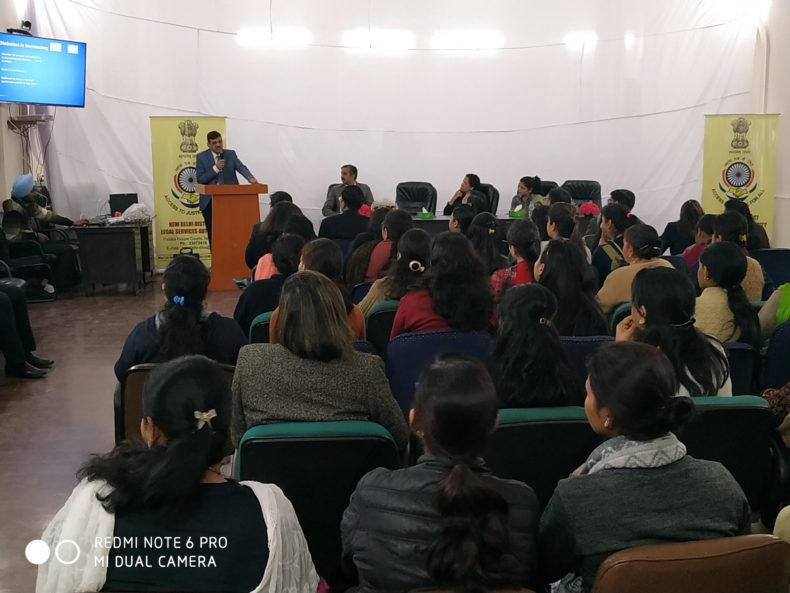 On 08.03.2019 in the premises of District Court Complex NDDLSA Celebrated International Women Day wherein Ms. Poonam A. Bamba Ld. District and Sessions Judge/ Chairperson NDDLSA was the chief guest and Dr. Alok Joshi MD (MED) Sr. Consultant Physician and Diabetologist and Ms. Kanika were the Resource Person who interacted with the Female Staff of District Court New Delhi District.