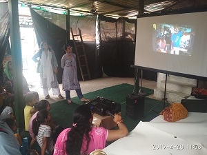 On 20.04.2019 New Delhi District Legal Services Authority in collaboration with an NGO (Satyarthi) Organised a Workshop on Child Labour, Child Marriage and Trafficking at Sanjay Camp, Chanakyapuri New Delhi.