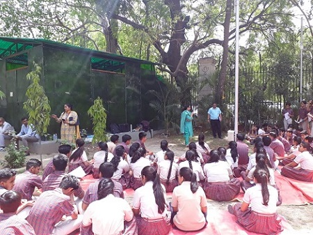 On 15.04.2019 New Delhi District Legal Services Authority Organised a visit for School Students from DAV Public School Sector-49, Gurugram, in Patiala House Court Complex to Observe the Court Proceedings.