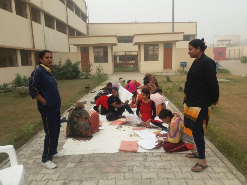 Painting Competition at Central Jail No 16, Mandoli, Delhi