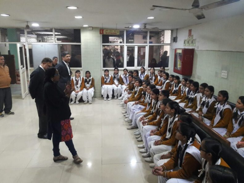 Court visit of students of SKV, Yamuna Vihar