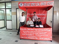 Helpdesk outside Library-cum-Conference Hall, GTB Hospital