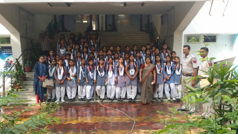 In compliance of directions of Ld. Executive Chairperson, Delhi State Legal Services Authority, a visit of school students (Sarvodaya Kanya Vidyalaya, Ashok Vihar, D-Block, Delhi) to the One Stop Center at Sanjay Gandhi Memorial Hospital, Police Station – Ashok Vihar and Rohini Court on 05.05.2018