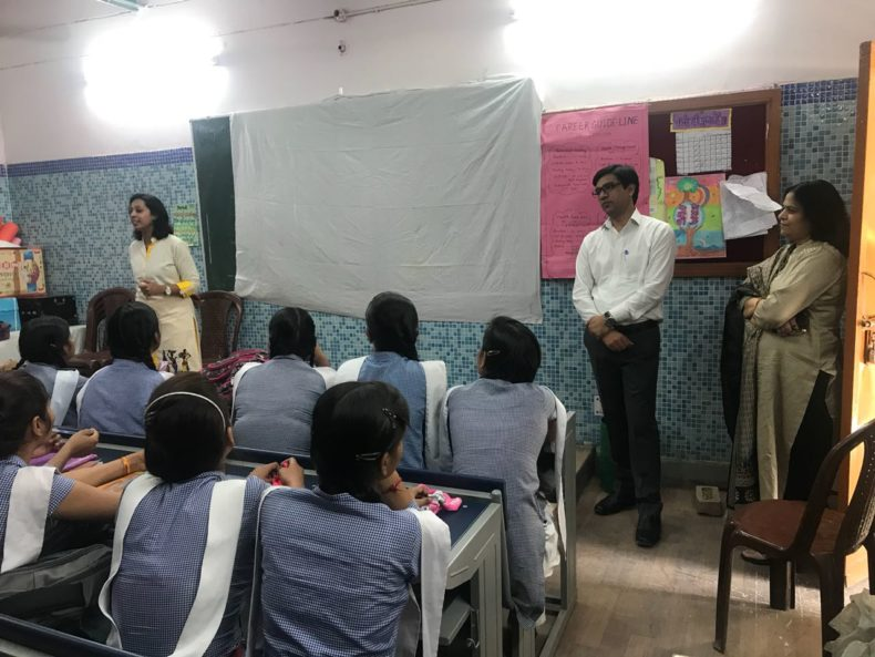 "In compliance of directions of Ld. Executive Chairperson, Delhi State Legal Services Authority, Legal Literacy Classes on Module of Sexual Violence ""Child Abuse and Violence-Interpersonal and Digital World"" was conducted for Children studying in class 9th to 12th Class at Govt. Girls Senior Secondary School, Anandwas, Delhi on 09.05.2018. Ms. Ruchika Singla, Secretary Dlsa NW Rohini Courts and Shri Rahul Kumar Verma, Panel Advocate were the resource persons for the session."