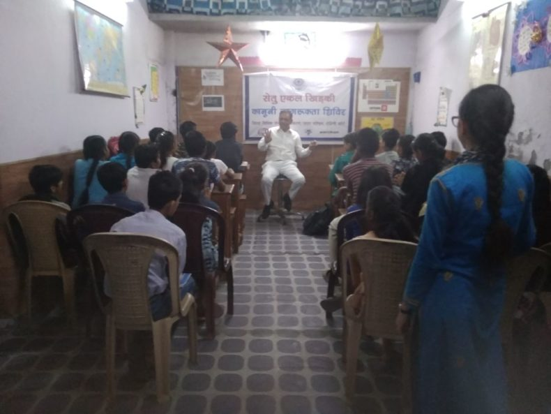 "A Legal Awareness Programme was organized by DLSA, NW on the topic ""Rights of Physically and Mentally Disabled children"" at Karan Vihar (Hari Enclave), Delhi on 25.05.2018.  Shri Mohinder Bhatia, Panel Advocate was the Resource Person."
