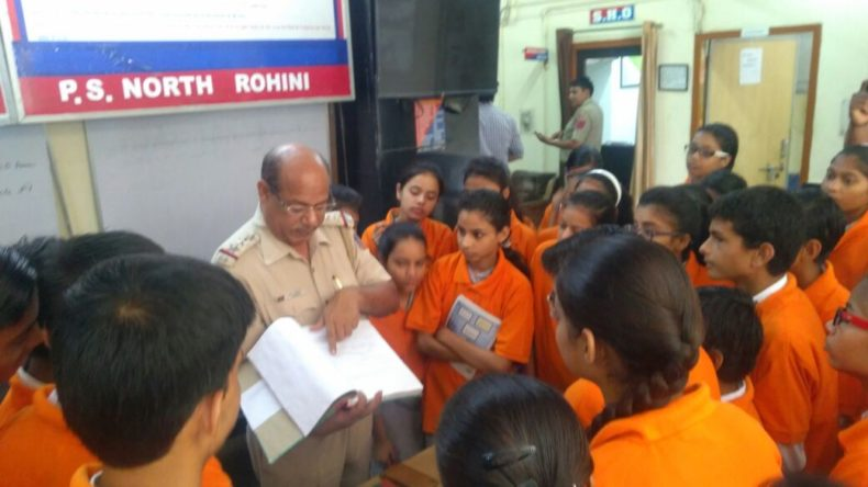 In compliance of directions of Ld. Executive Chairperson, Delhi State Legal Services Authority, a visit of school students (Sarvodaya Vidyalaya, Sector-8, Rohini) to the One Stop Center at BSA Hospital, Rohini, Police Station – North Rohini and Rohini Court Visit on 07.05.2018