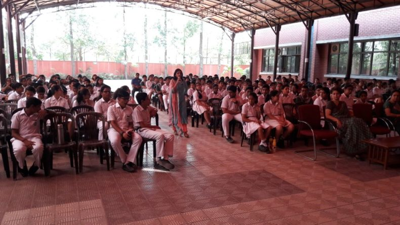 "DLSA, NW organized a Legal Literacy Session on ""Child Abuse and Sexual Violence"" on 18.05.2018 at 08:30 AM at Delhi Public School, Rohini, Delhi by Ms. Ruchika Singla, Secretary, DLSA, NW"