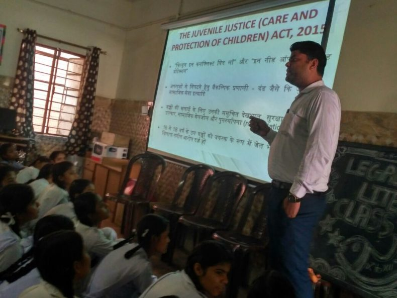 "A Sensitization Programme on Sexual Violence – ""Child Abuse Violence Interpersonal and digital World"" was organized by DLSA, NW on 18.08.2018 at Govt. Girls Senior Secondary School, Avantika Sector-1, Rohini, Delhi"