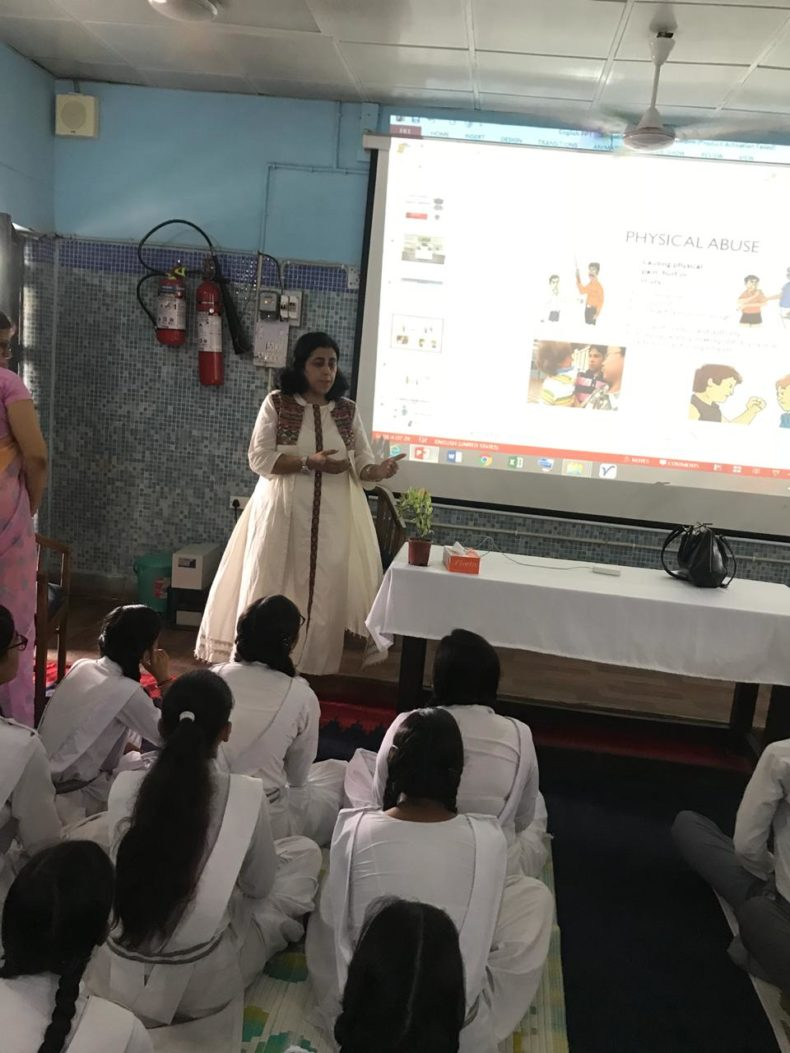 "A Sensitization Programme on Sexual Violence – ""Child Abuse Violence Interpersonal and digital World"" was organized by DLSA, NW on 18.08.2018 at Sarvodaya Vidyalaya, C-Block, Saraswati Vihar, Delhi"