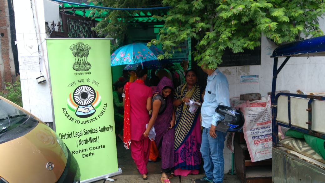 An Aadhaar Card Camp and Legal Aid Camp was organized by DLSA, NW on 01.09.2018 at Prem Nagar II to facilitate the general public.