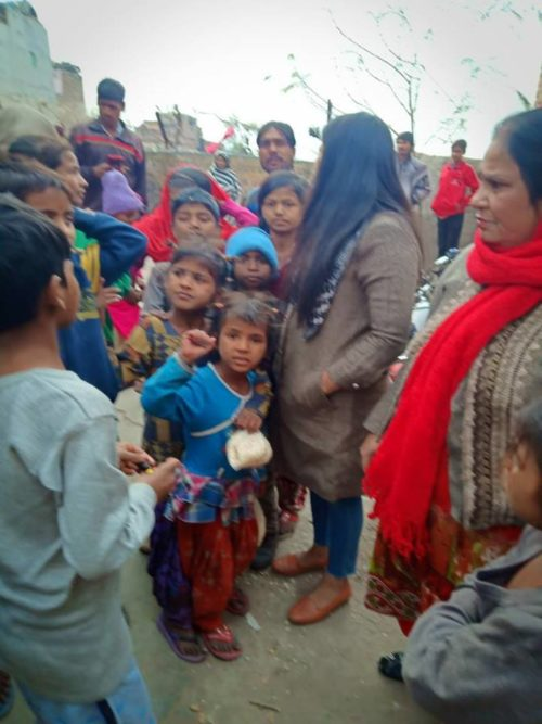 Observation of girl child day on 24.01.2019 at mahawat colony Prem Nagar 3. Plv of Dlsa NW distributed necessary things to girl child