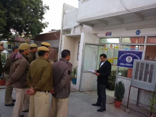 Legal Literacy Classes conducted by DLSA, (South) at Police Station: Fatehpur Beri on 21.12.2016