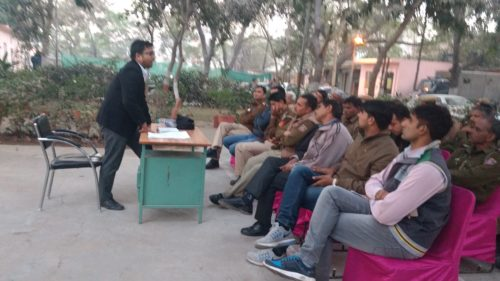 Legal Literacy Classes conducted by DLSA, (South) at Police Station: Sangam Vihar on 21.12.2016