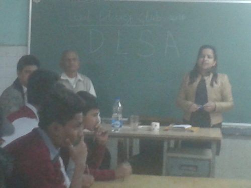 Legal Literacy Classes conducted at GBSSS J- Block Saket on 21.12.2016