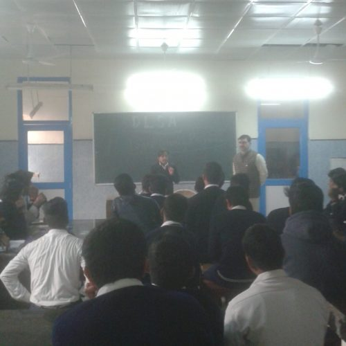 Legal Literacy Classes conducted at VCSG SBV J-BLOCK  on 24.12.2016