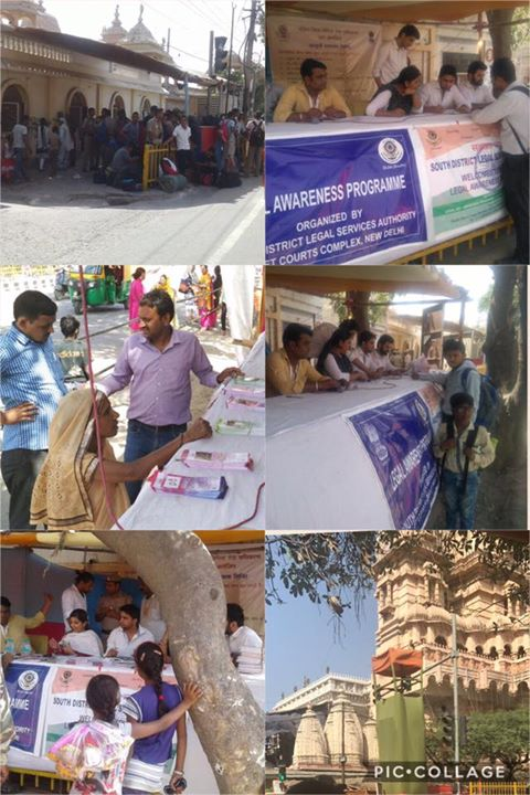Dlsa South Elished Legal Aid Clinics Help Desk At Chattarpur Temple On 30 03 2017