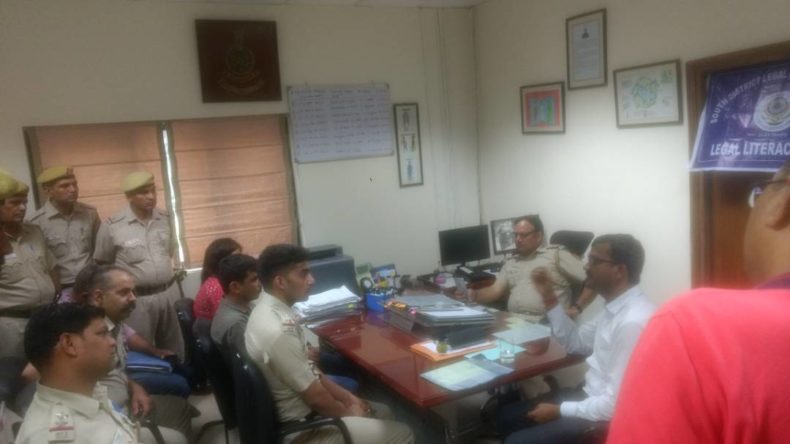 DLSA (SOUTH) ORGANIZED LEGAL LITERACY CLASSES AT POLICE STATION: SAKET ON 30.05.2017