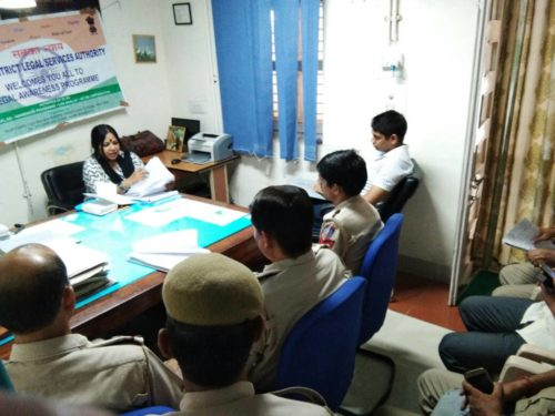 DLSA (SOUTH) ORGANIZED LEGAL LITERACY CLASSES AT POLICE STATION: HAUZ KHAS ON 24.06.2017