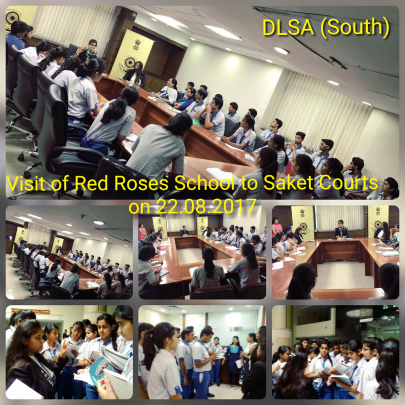 VISIT OF RED ROSES PUBLIC SCHOOL TO SAKET COURTS COMPLEX ON 22.08.2017